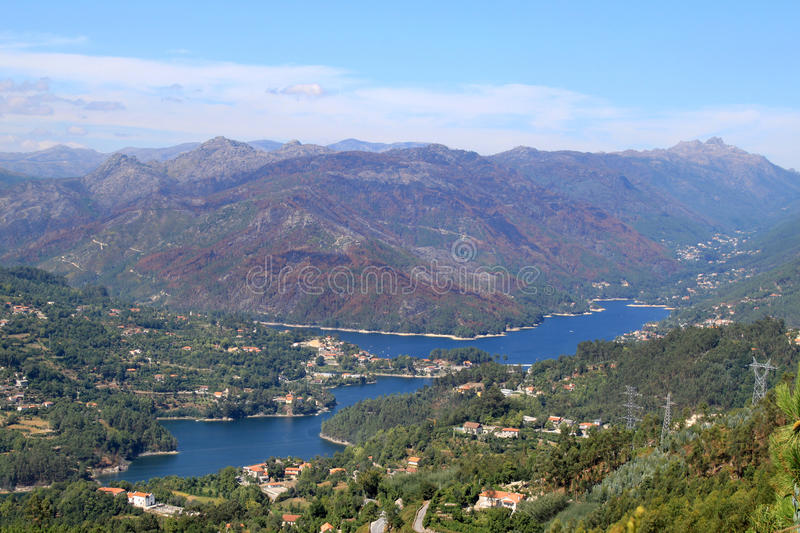 Lake of Canicada in the north of Portugal stock image