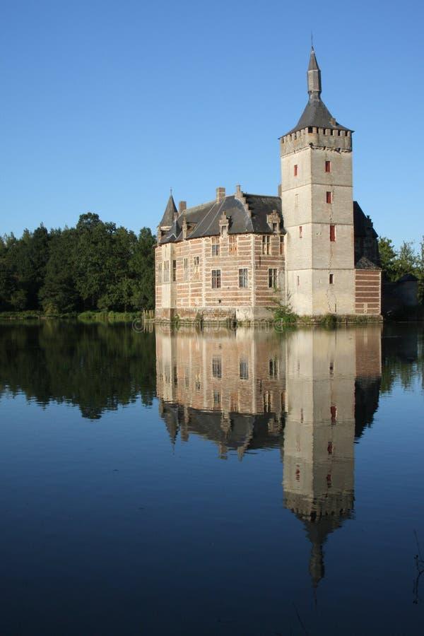 Lake castle stock photography