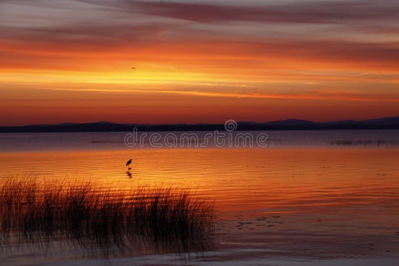 Lake Champlain Dramatic Sunrise stock photos