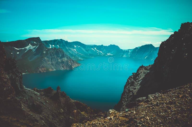 Lake Changbai Mountain royalty free stock photography