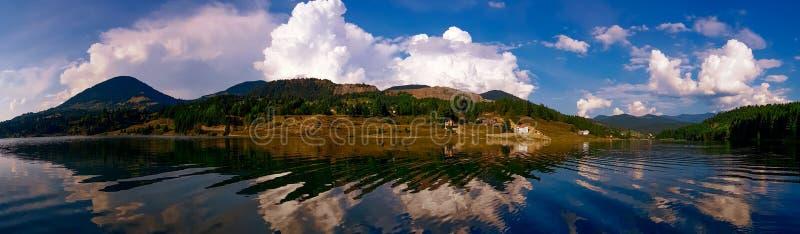 Lake Colibita landscape stock image