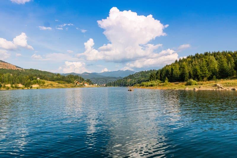 Lake Colibita landscape stock photography