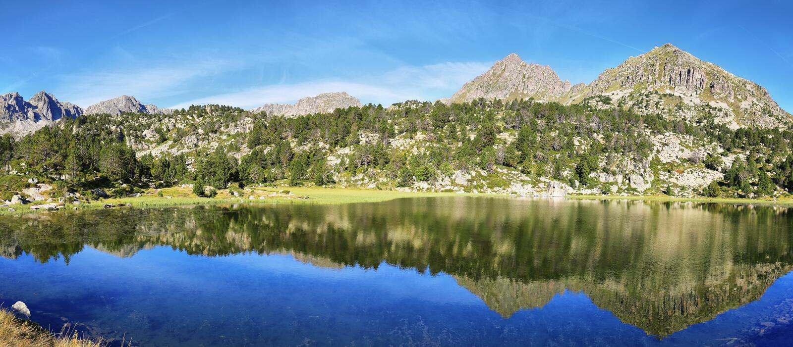 Lake in Collada de Pessons, Andorra. royalty free stock photography
