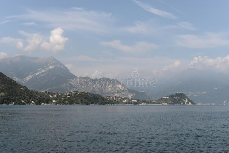 Lake Como and alps in the background. royalty free stock photography