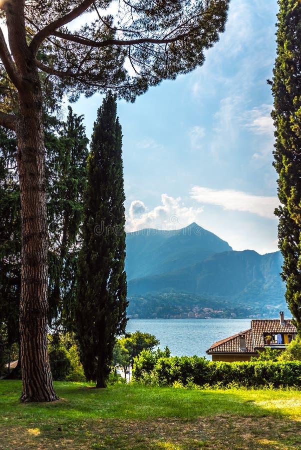 Lake Como, Italy , view from Bellagio park royalty free stock photos