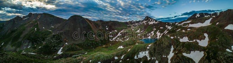 Lake Como - Poughkeepsie Pass, San Juan Mountains off Engineer P stock photography