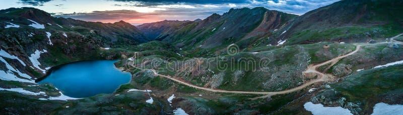 Lake Como- Poughkeepsie Pass, San Juan Mountains off Engineer Pa stock images