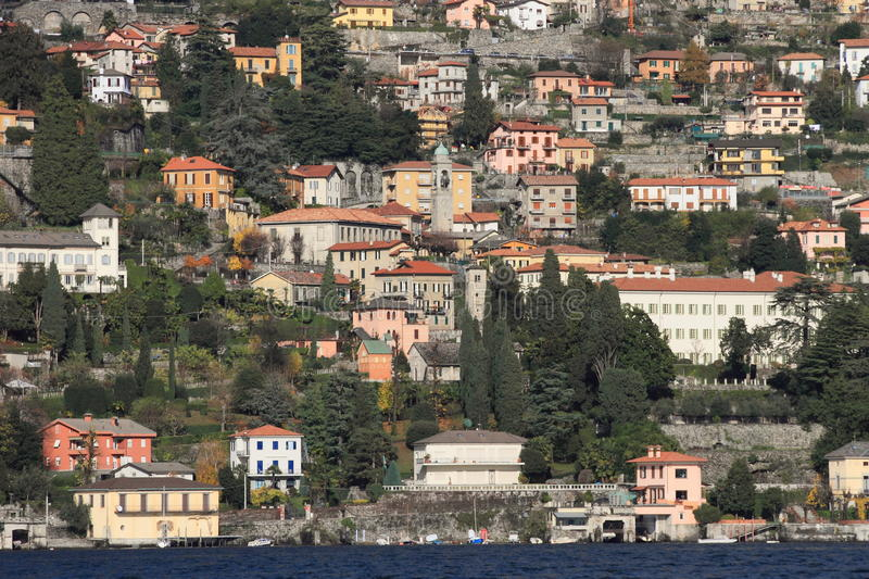 Download Lake Como and town, Italy stock photo. Image of resort - 17231978