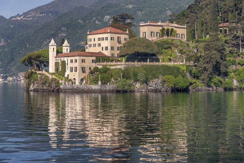 Lake of Como at Villa Balbianello. Beautiful villages on the Lago di Como: Villa Balbianello, located in the north of Italy.nPhoto Taken On: April, 2017 royalty free stock photos