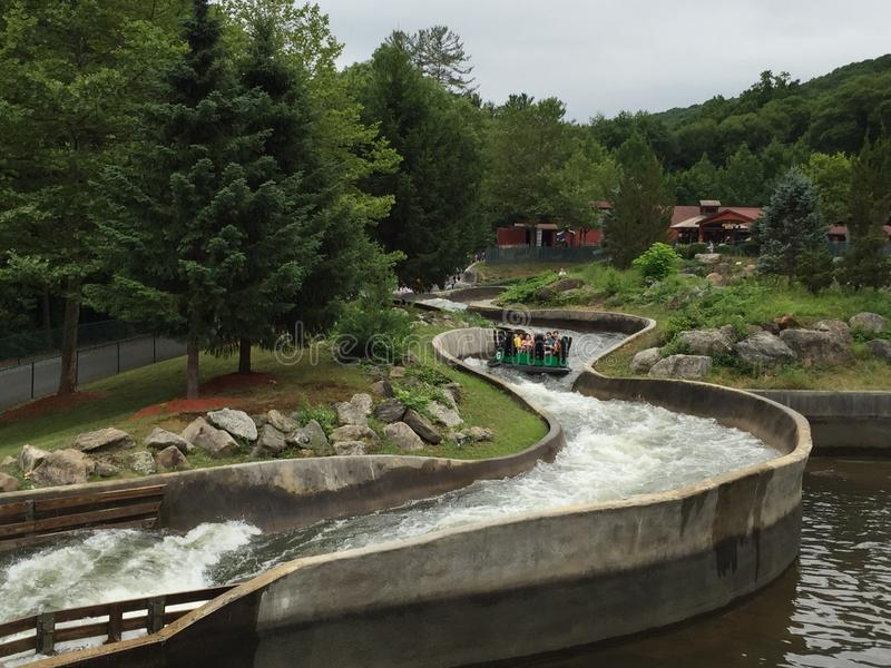 Lake Compounce in Bristol, Connecticut. Opened in 1846, it is the oldest continuously-operating amusement park in the United States royalty free stock photos