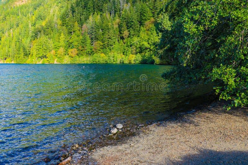 Lake Crescent at Olympic National Park, Washington, USA.  stock photography