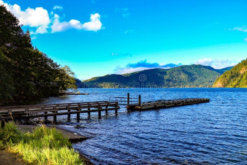 Lake Crescent at Olympic National Park, Washington, USA.  royalty free stock photo
