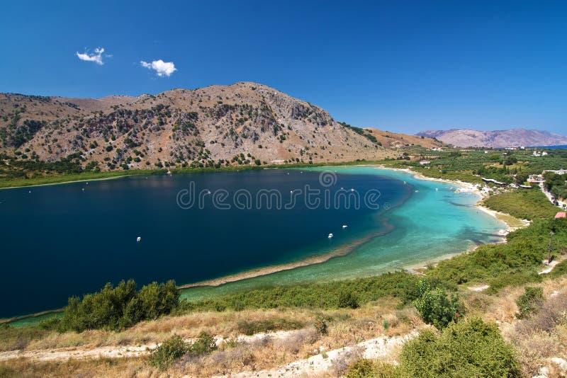 Lake on Crete royalty free stock photography