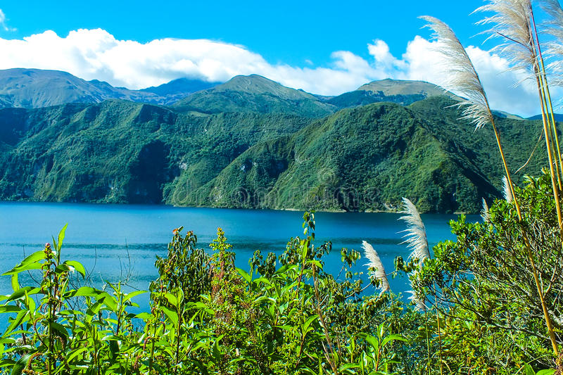 Lake Cuicocha, Imbabura Province, Ecuador royalty free stock photography