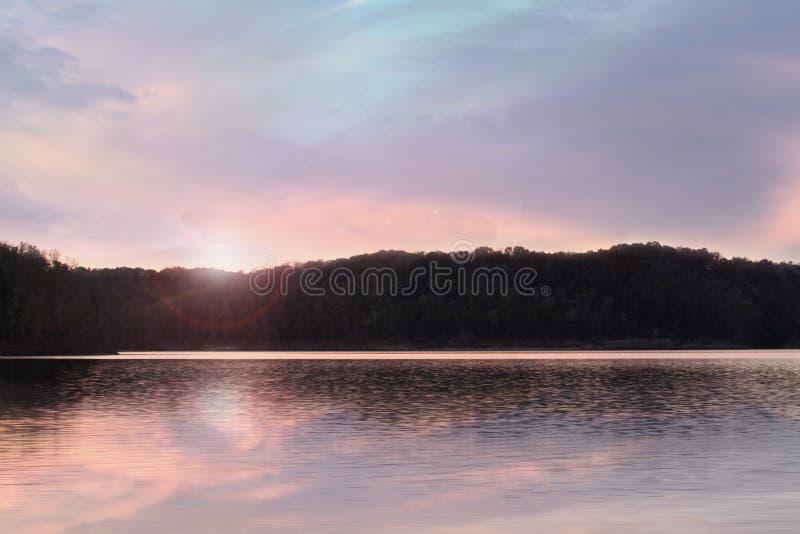 Lake Cumberland Kentucky. Beautiful sunrise at Lake Cumberland, Kentucky stock image