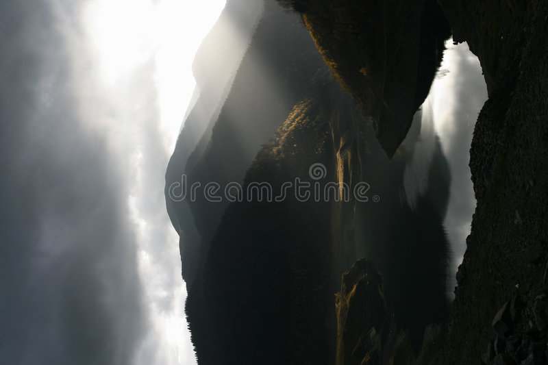 Lake by the dam royalty free stock image