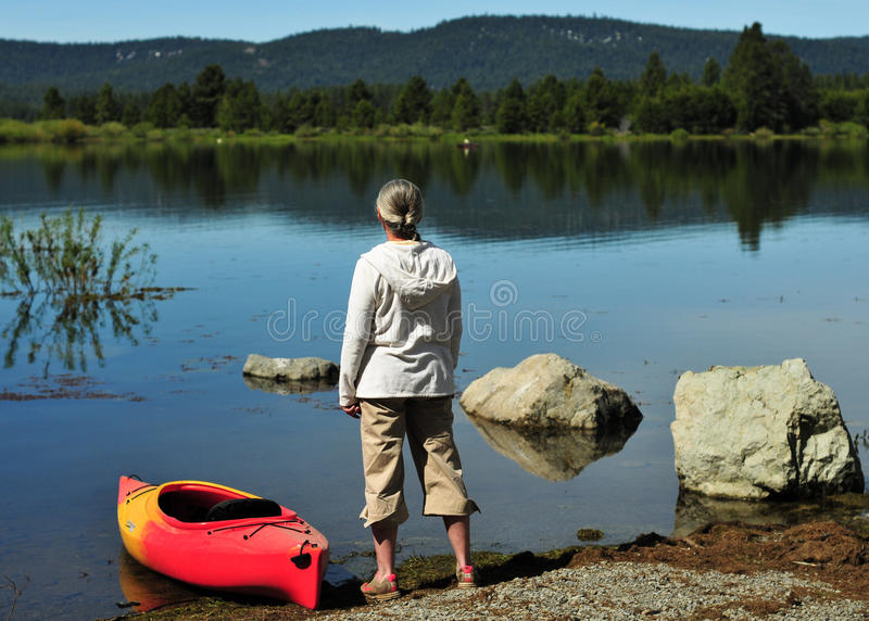 Lake Davis royalty free stock photo