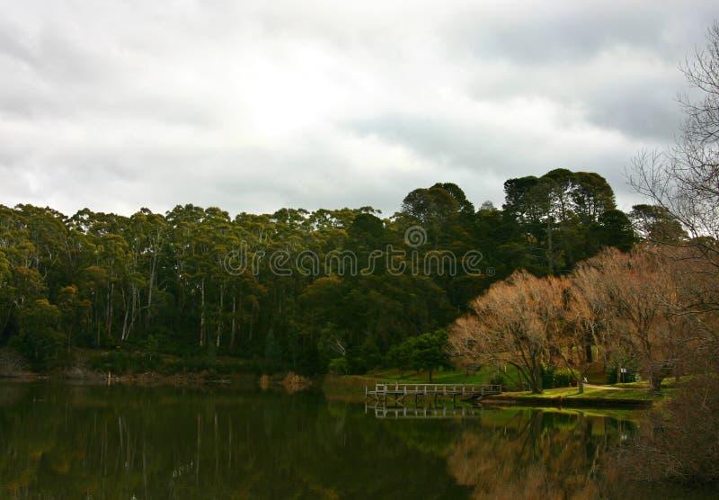 Lake daylesford royalty free stock image