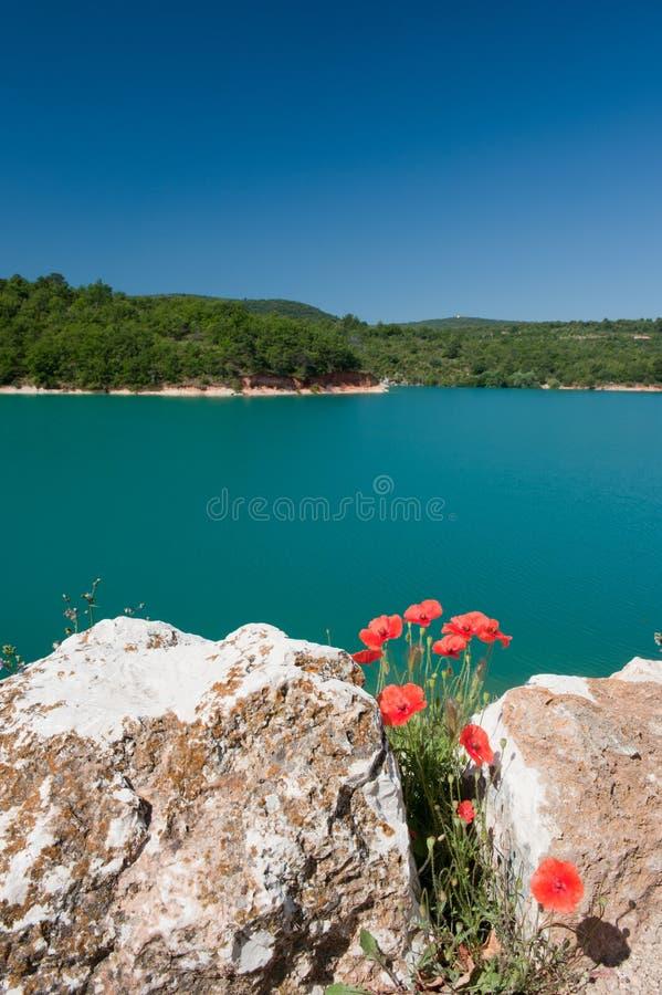 Lake DE Sainte Croix stock afbeeldingen