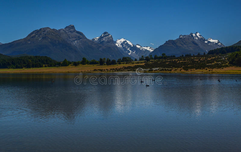 Lake Diamond New Zealand 1 stock photo