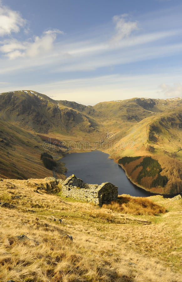 Lake district field barn, Haweswater royalty free stock images