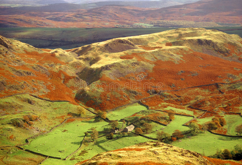 Lake district national park cumbria royalty free stock images