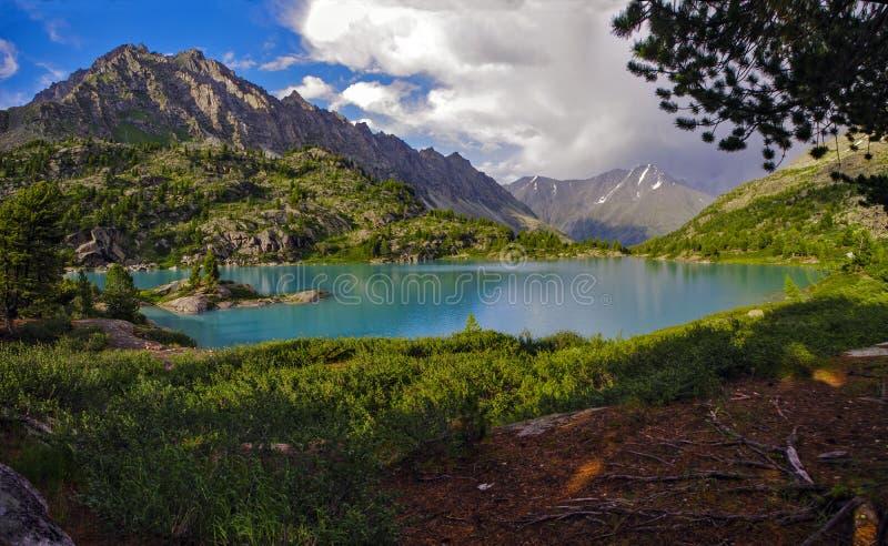 Lake Driscoll in Altai stock photos