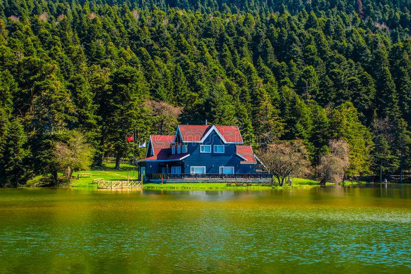 Lake dwelling in Bolu Gölcük royalty free stock photo
