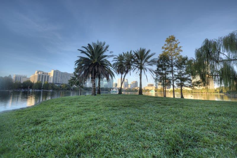 Download Lake Eola Park stock photo. Image of morning, sunrise - 26877378
