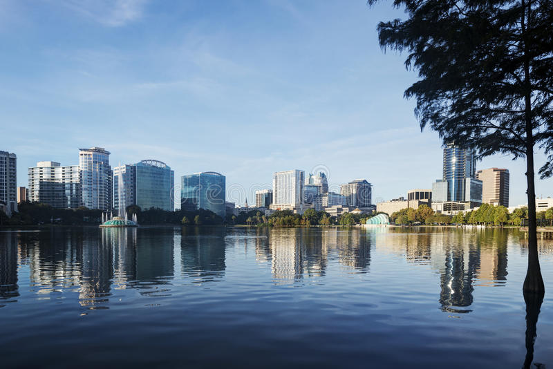 Download Lake Eola Park stock image. Image of range, florida, morning - 26877439