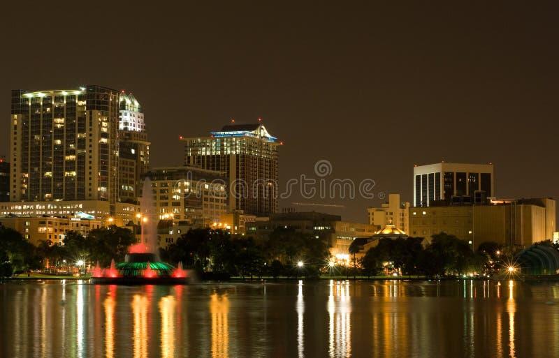 Lake Eola & Skyline Orlando FL stock photo