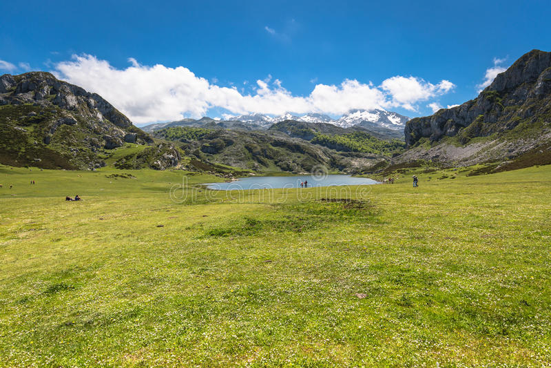 Lake Ercina. Cantabrian. Covadonga. Asturias. Spain. Lake Ercina. Cantabrian. Covadonga Asturias. Spain stock photography