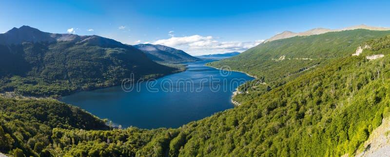 Lake Fagnano in Tierra del Fuego in Argentina royalty free stock image