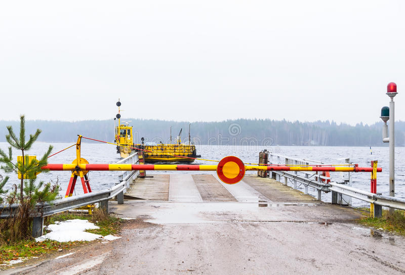 Lake ferry stock photo