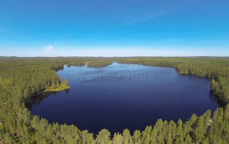 Lake in Finland royalty free stock photography