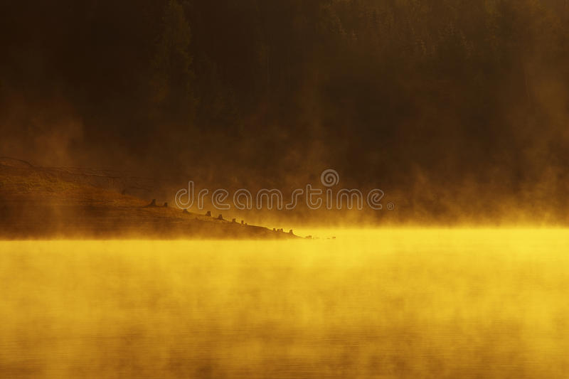 Lake of fire royalty free stock image