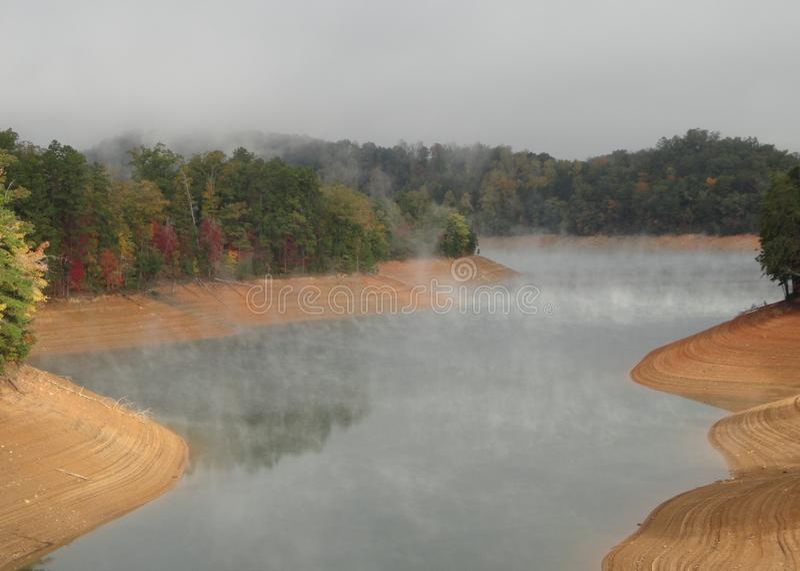 Lake Fontana In The Great Smokey Mountains Stock Photo