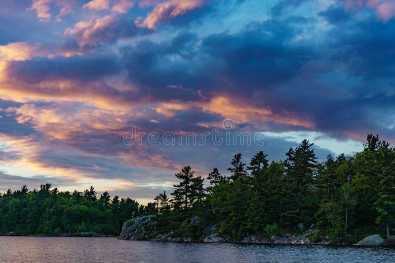 Lake With Forested Coastline Free Public Domain Cc0 Image