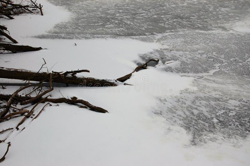 Lake frozen and still stock photos