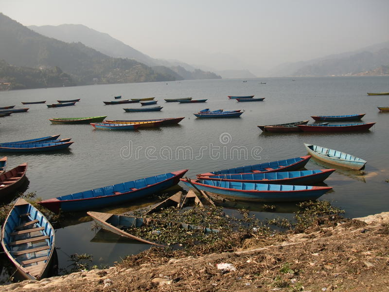 Download A lake full of boats stock image. Image of china, water - 21667619