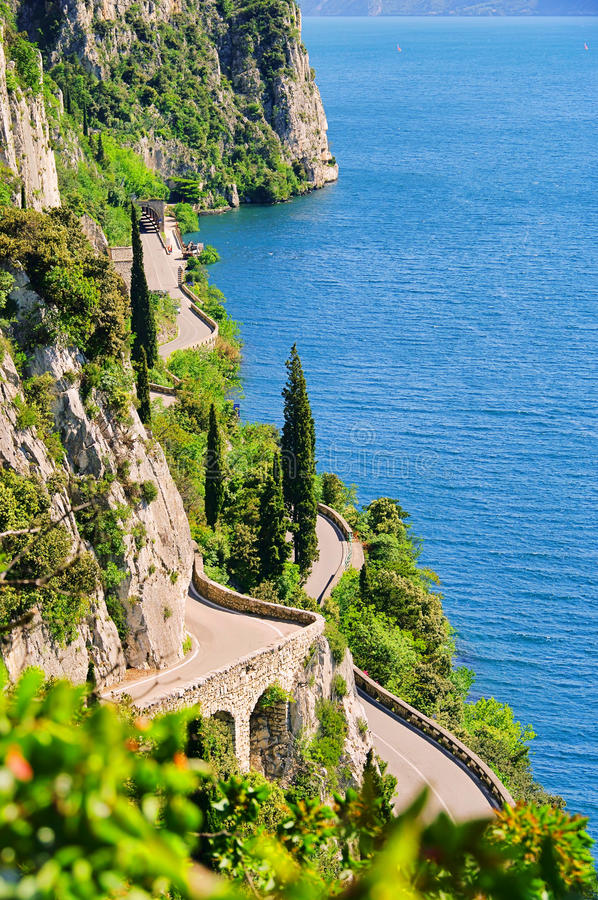 Download Lake Garda stock photo. Image of mountain, italy, rock - 17905202