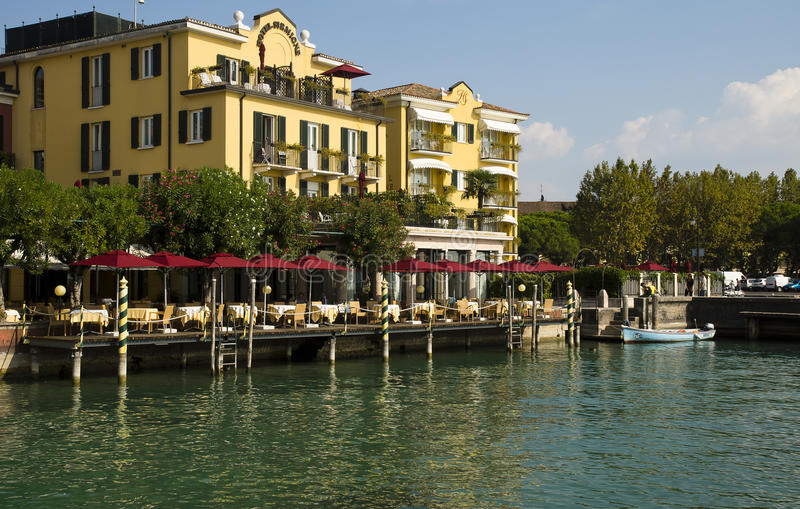 Lake Garda cityscape Sirmione, Italy royalty free stock images
