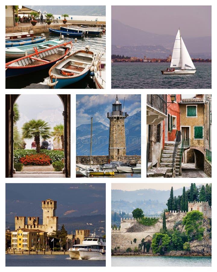 Lake Garda collage royalty free stock photography