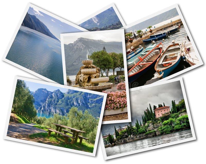 Lake Garda Collage stock photos