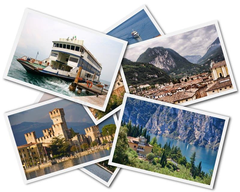 Lake Garda Collage royalty free stock images
