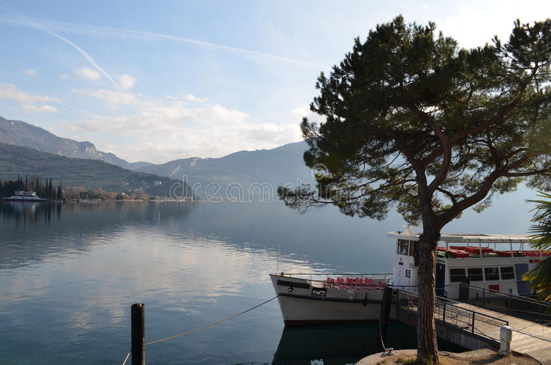 Lake Garda in Italy stock images