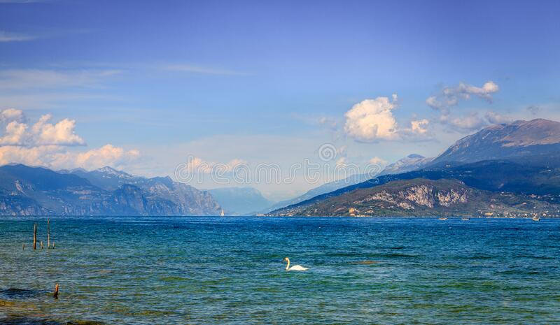Lake Garda in Italy royalty free stock image