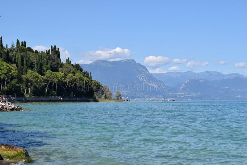 Lake Garda. A lake Garda in Italy in summer day stock image