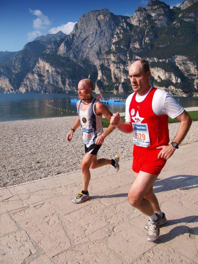 Download Lake Garda Marathon 2008 editorial stock image. Image of runner - 6544134