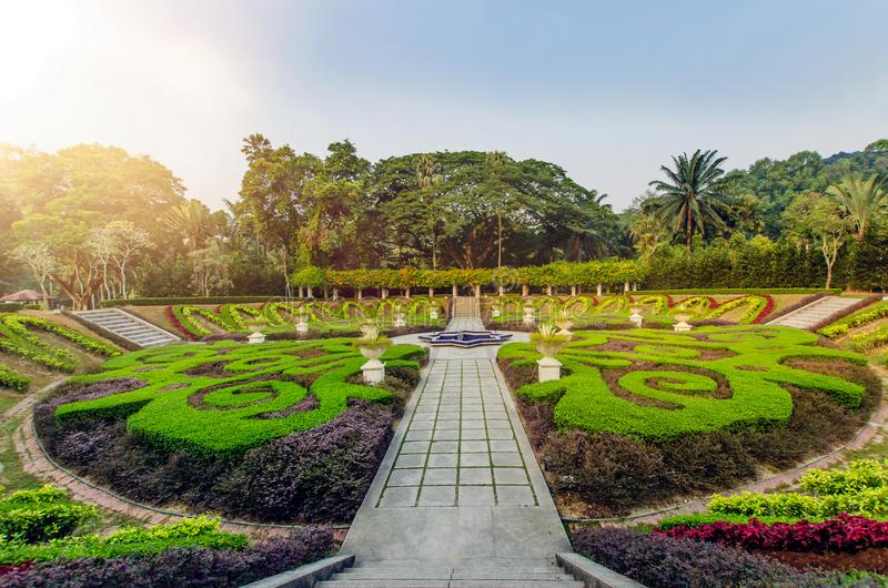 Lake Gardens Kuala Lumpur is known officially as Perdana Botanical Gardens. Is Kuala Lumpur`s first large-scale recreational park stock image